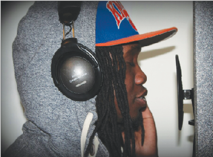 Mercer student Alpha Diop, an aspiring rap artist, has been mentored by J. Cole and others.