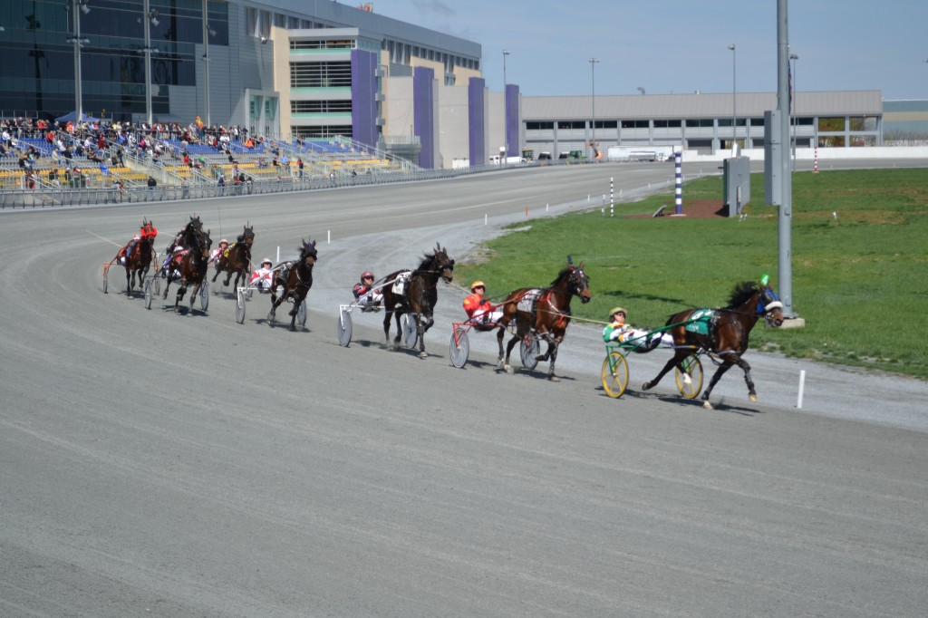 Harness race at the Harra's Philadelphia Casino & Racetrack on April 20, 2013. Photo by Dylan Vaughn.