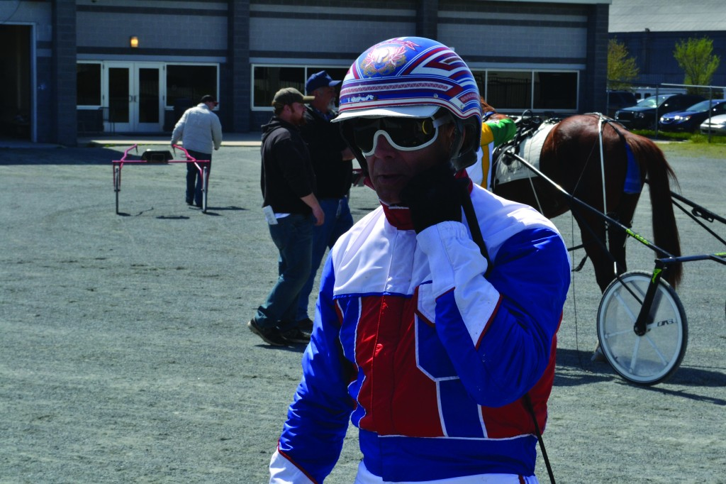 Ron Pierce after one of the races on April 20 at the Harrah's Philadelphia Casino & Racetrack. Photo by Dylan Vaughn.