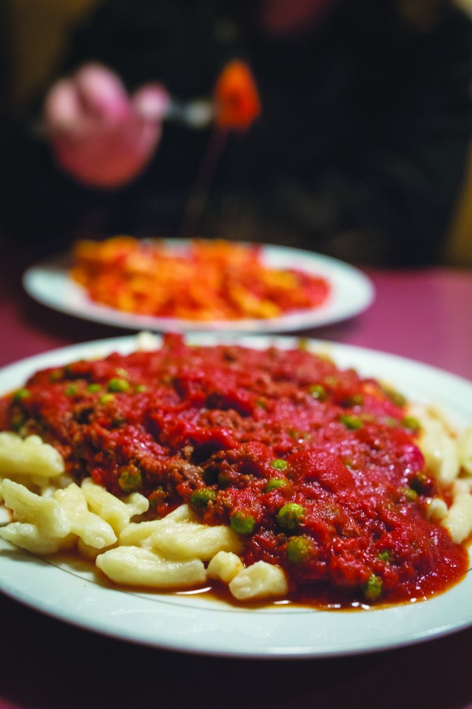Cavatelli with bolognese and peas at Candela's.