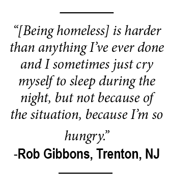 Being homeless is harder than anything