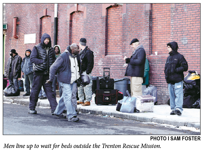 Men at Trenton Rescue Mission